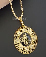 Tugra Kette Goldkette Gold Münze 22 Ayar Altin Kaplama Cumhuriyet Osmanli Zirkon