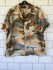 MENS URBAN VINTAGE RETRO IBIZA BEACH BRIGHT BOLD HAWAIIAN FLORAL SHIRT UK XL #26