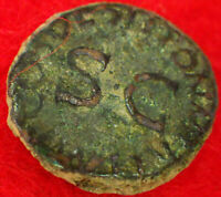 Claudius I   44 AD     RARE QUADRANS featuring S/C       ROMAN COIN Collections