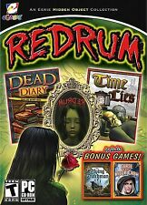 REDRUM Dead Diary + Time Lies 4 PACK Hidden Object PC Game CD-ROM NEW