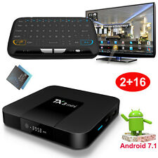 2017 2GB+16GB TX3mini Android 7.1.2 Nougat Quad Core TV BOX 4K Movies+Keyboard