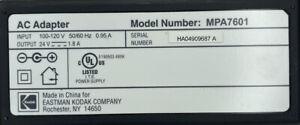 "Kodak 24 Volt 1.8A ""MPA-7601"" Accessory OEM AC Wall Charger Power Adapter"