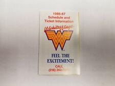 Wichita Wings 1986/87 MISL Indoor Soccer Pocket Schedule - KRZ