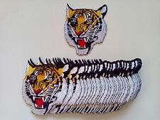 """30 Medium Tiger Head Embroidered Patches 4.5""""x3.9"""""""