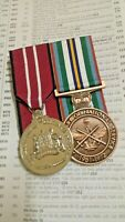 *AUSTRALIAN DEFENCE MEDAL AND ANNIVERSARY OF NATIONAL SERVICE MEDAL- F/S REPLICA