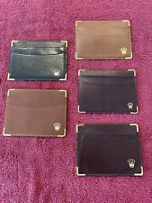 5 Vintage Rolex Leather Product, Credit Card Holders