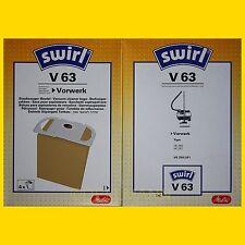 4 Beutel Swirl V 63 Staubsaugerbeutel V63 Vorwerk Tiger 250 251 per Warensendung