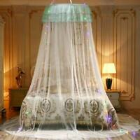 5Colors Princess Lace Round Dome Mosquito Net Mesh Bed Canopy Bedroom Decor US