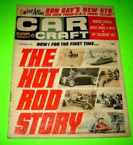 Car Craft magazine September 1966 GTO The Hot Rod Story
