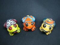 Lot of 3 Talavera Frogs,  Mexican Home art