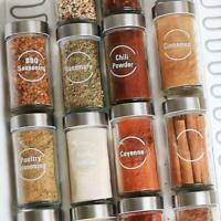 Pantry Kitchen Food Container Label Stickers Decals Waterproof fragrance U4T0