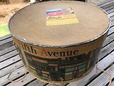 Vtg. 1940-50's Dobbs Fifth Avenue New York Hat Box Hawaiian South Seas Sticker
