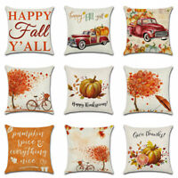 Pillow Cover Art Thanksgiving Fall Sofa Case Rustic Cushion Home Decor Autumn