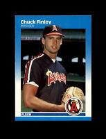 1987 Fleer Baseball #79 Chuck Finley RC (Angels) NM-MT