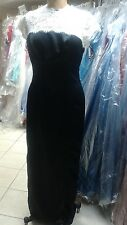 Lela Rose LX 196...Full length, Sleeveless, Satin Dress...Black / Ivory....Sz 18