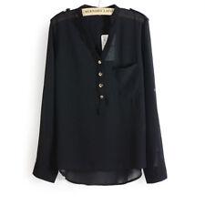 Camisas y tops de mujer de manga larga de chifón talla XL