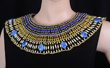 Huge Egyptian 9 Scarabs Cleopatra Necklace Halloween Costume SALE LOWEST PRICES