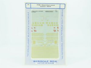 HO Scale Microscale #87-698 Wabash Diesel Locos & Switchers 1960-64 Decal Sheet