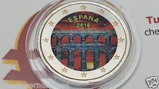 2 euro 2016 Spagna colorato color Espagne España Spain Spanien Segovia Испания