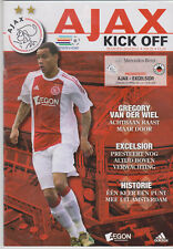Programma / Programme Ajax Amsterdam v Excelsior Rotterdam 24-02-2011