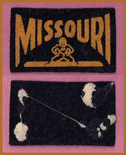 OLD 1950's University of Missouri Tigers Football Candy Felt