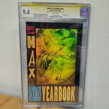 CGC SS 9.4 M.A.X. Yearbook signed by McKone & Capullo, Hologram 1993 #nn