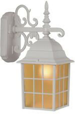 Portfolio 14.37-in H Sand White Outdoor Wall Light