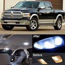 White LED Interior kit + License Light For Dodge Ram 1500 2500 3500 2009-2016
