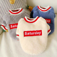 Fluffy Fleece Dog Winter Clothes Warm Jumper Sweater for Small Medium Dogs Cats