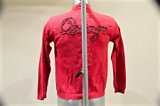 bonito chaleco con cremallera algodón rojo SERGE BLANCO PEQUEÑO 15 talla 14 años