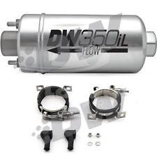 DeatschWerks DW350iL Inline Fuel Pump E85 & Gas w/ Mounting Brackets 9-350