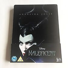 Disney's Maleficent Blu-ray (3D+2D) Steelbook [UK] Embossed! RARE! MINT!