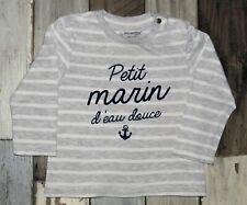 ~ 3 mois ORCHESTRA - MAN330 ~ Tee-shirt ML gris imprimé Garçon ~