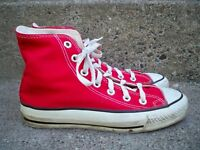 Vtg CONVERSE Chucks All Star Red High Top Shoes Sneakers Men's Kicks Size 4.5