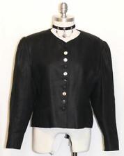 Black ~ Linen German Women Summer Short Dress Skirt Pants Suit Jacket / 44 10 M