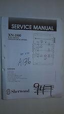 sherwood xn-1000 service manual original repair book car stereo radio crossover