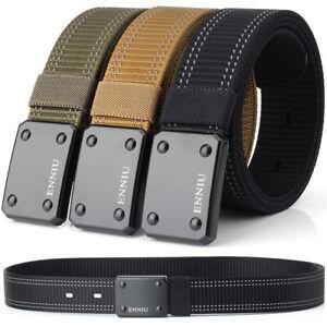 """1.5"""" Tactical Nylon Belt Outdoor Sports Webbing Heavy Duty Trousers Belts 3Color"""