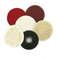 180mm Sanding & Polishing Kit, Car Boat Valeting & Cleaning Bonnet, Sponge, Mop