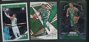 (3) Jayson Tatum Prizm Optic Revolution Lot Boston Celtics Star