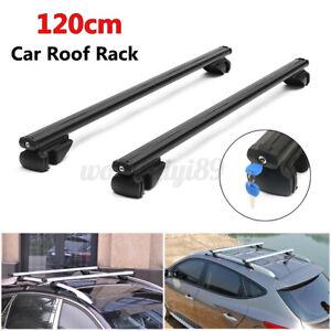 2pc 100KG 120cm Universal Car Roof Rack Cross Bars Aluminium Anti Theft Lockable