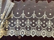Vintage embroidered net deep flounce Sew Craft Costume