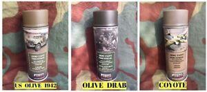 Lot de 3 Bombes spray peinture - USA 2nd guerre WW2