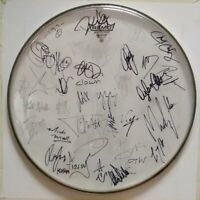 MOTLEY CRUE - KORN - IZZY STRADLIN - SLIPKNOT +  SIGNED AUTOGRAPHED DRUMHEAD DH6