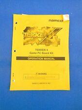 Namco Tekken 4 Arcade Vide Game Pc Board Kit Manual Original