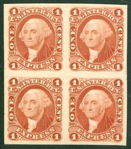 EDW1949SELL : USA Scott #R1P4 Superb Plate proof Block of 4. Catalog