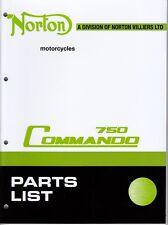 Original, OEM, 1972 Norton Commando 750 Combat, Factory Parts Manual, Brown Wrap