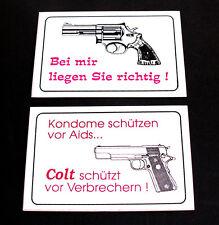Autocollant + chez moi ils se + Préservatifs protègent Colt protège contre les criminels