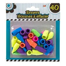Jot Bright Pencil-Topper Erasers, 40-ct. Packs Free Shipping