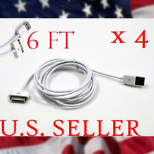 4X USB DATA SYNC CABLE CHARGER APPLE IPHONE 4 3GS IPOD