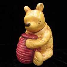 "Disney Classic Winnie The Pooh With Honey Pot Piggy Bank Charpente 5.5"" Ceramic"